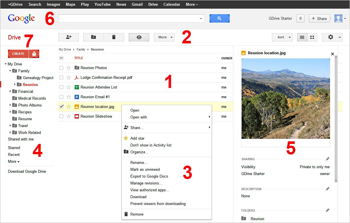 Google Drive - User Interface